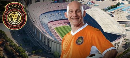LeoVegas FC banner med Thomas Gavesen