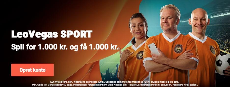 LeoVegas sport banner