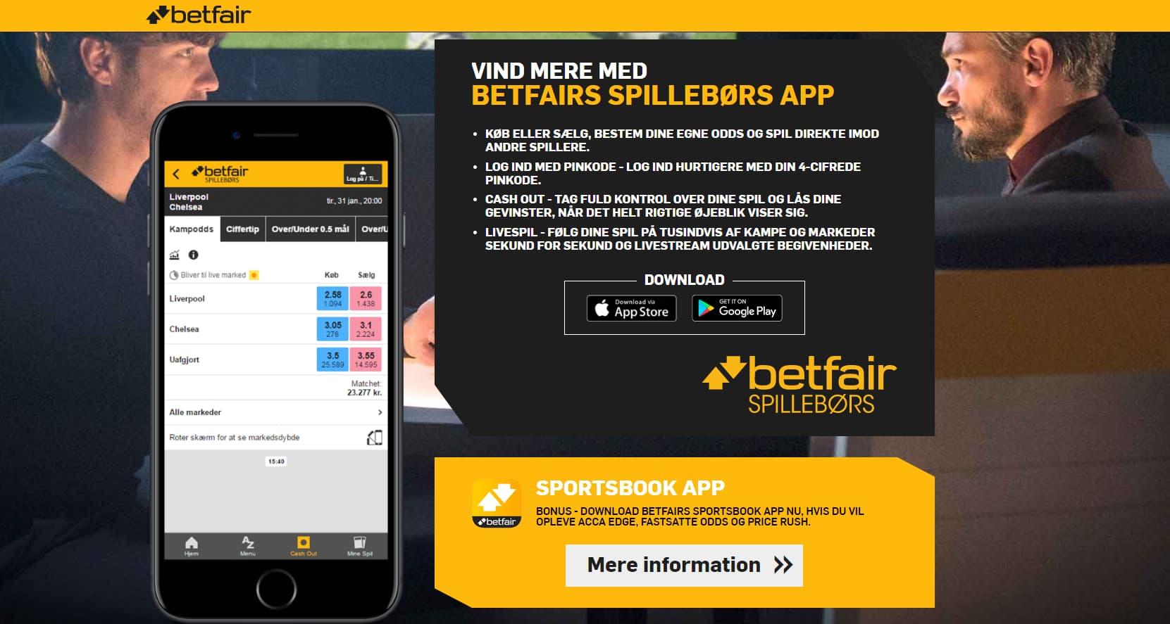 Betfair Mobil og App Smartphone